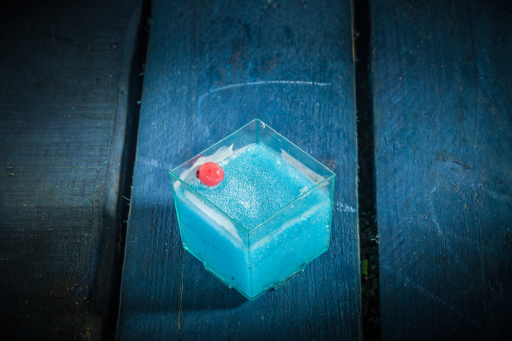 CUBITO DE SORBETE DE BLUE GIN TONIC
